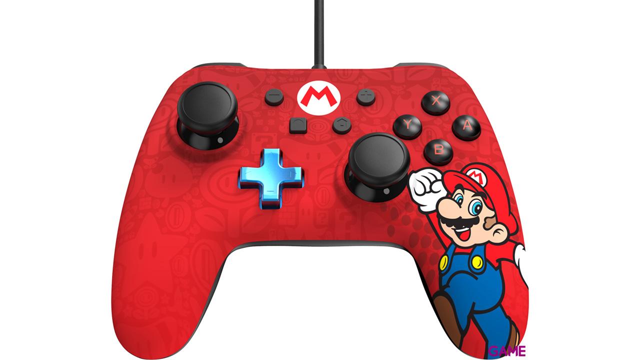 Controller con Cable PowerA Iconic Mario -Licencia oficial-