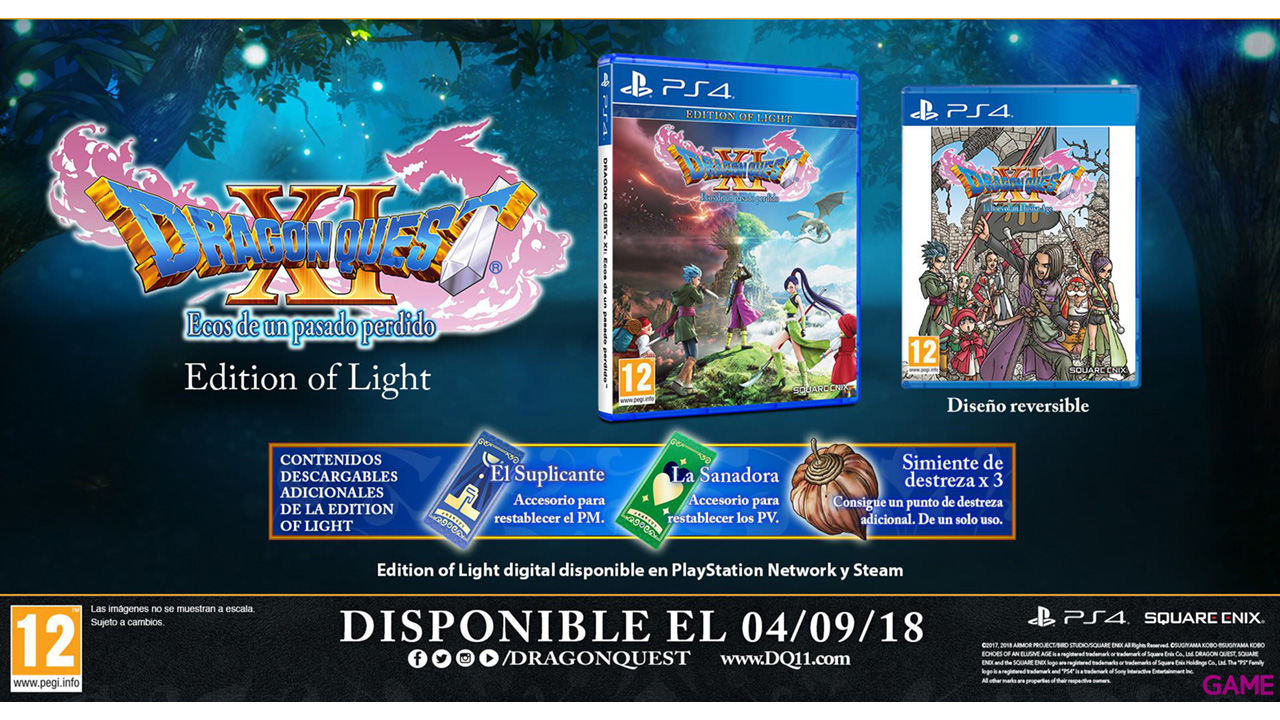 Dragon Quest XI: Ecos de un Pasado Perdido - Edition of Light