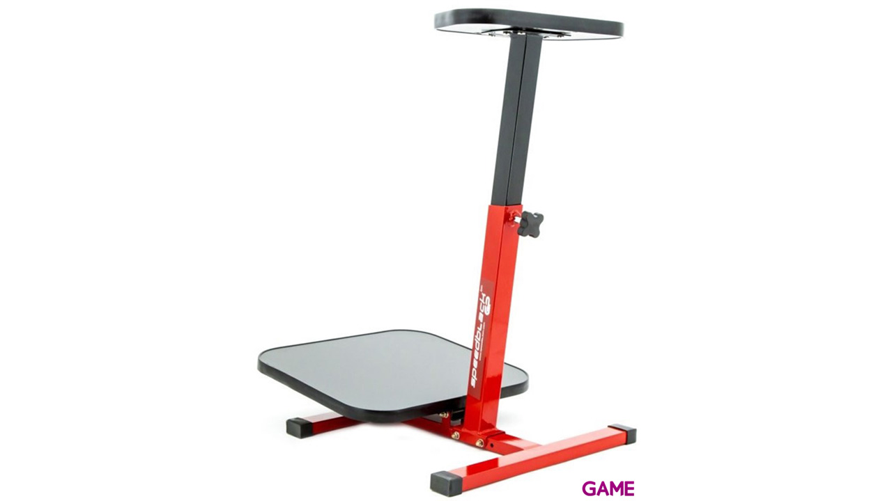 SpeedBlack soporte gaming volante rojo