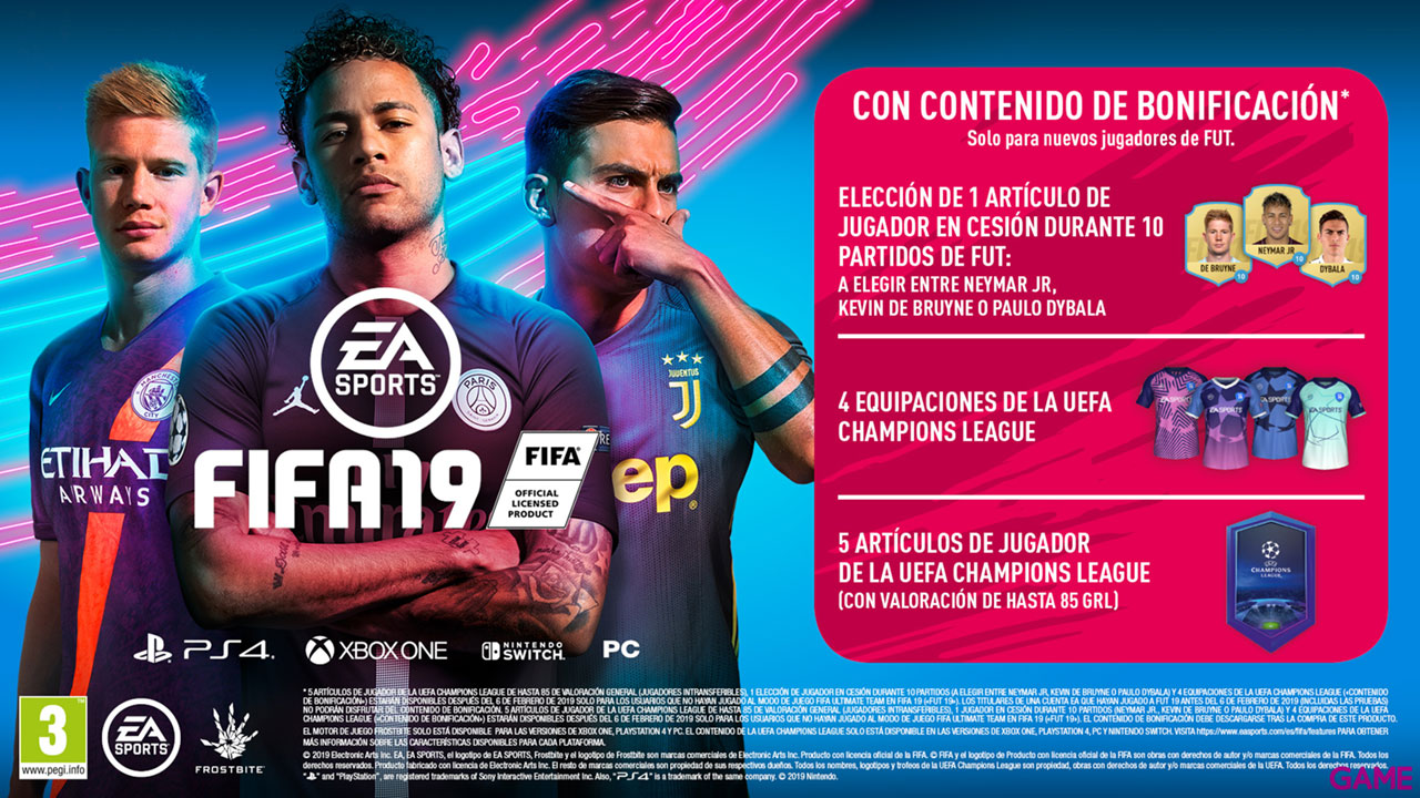 FIFA 19 Champions Edition. Playstation 4  GAME.es b31a89c3a6859