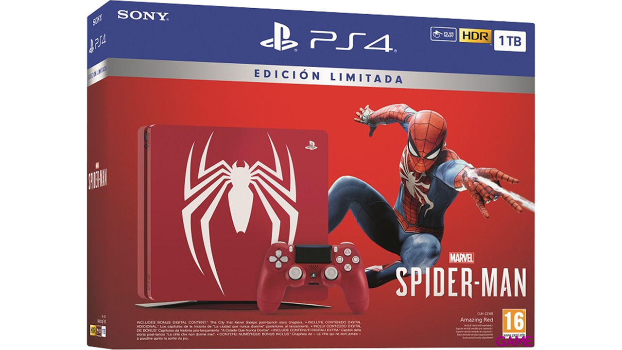 Playstation 4 Slim 1TB Edición Spider-Man + Marvel's Spider-Man