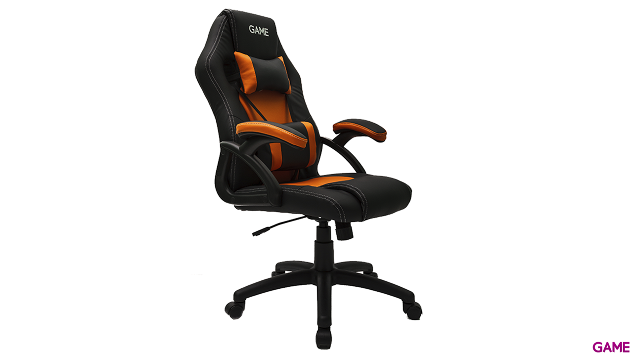 GAME Racing GT100 Naranja-Negro - Silla Gaming