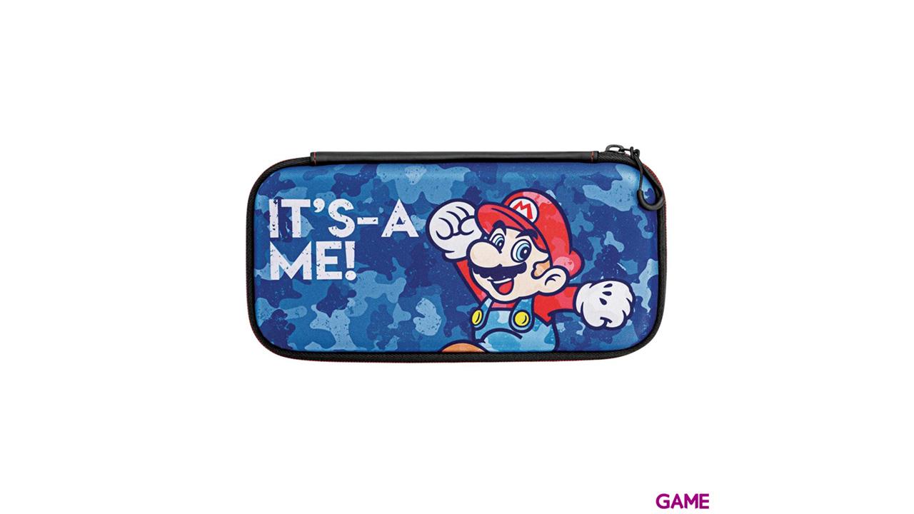Funda Slim para Nintendo Switch PDP Mario Camo Edition -Licencia oficial-