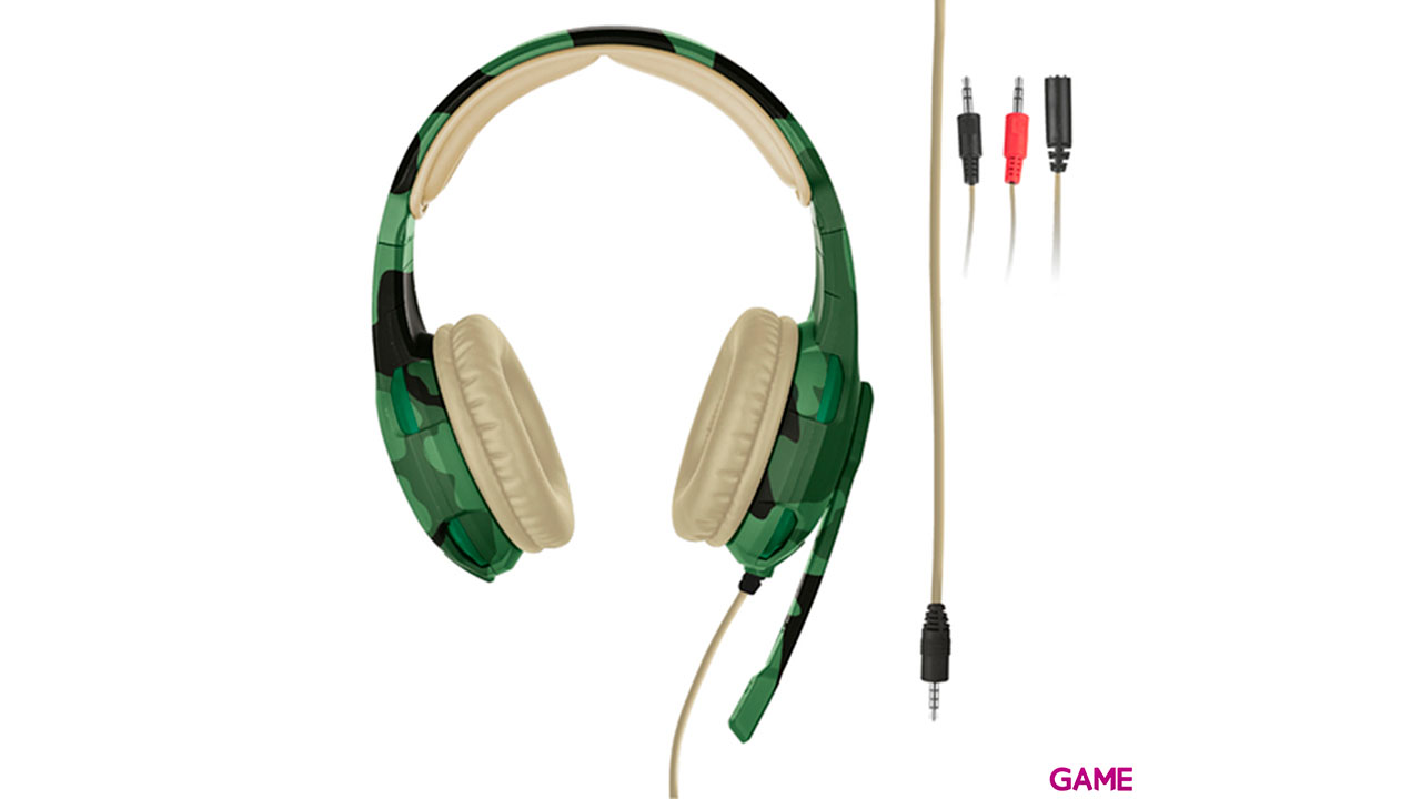 Trust GXT 310D Radius Desert Camo PC-PS4-PS5-XBOX-SWITCH-MOVIL - Auriculares Gaming