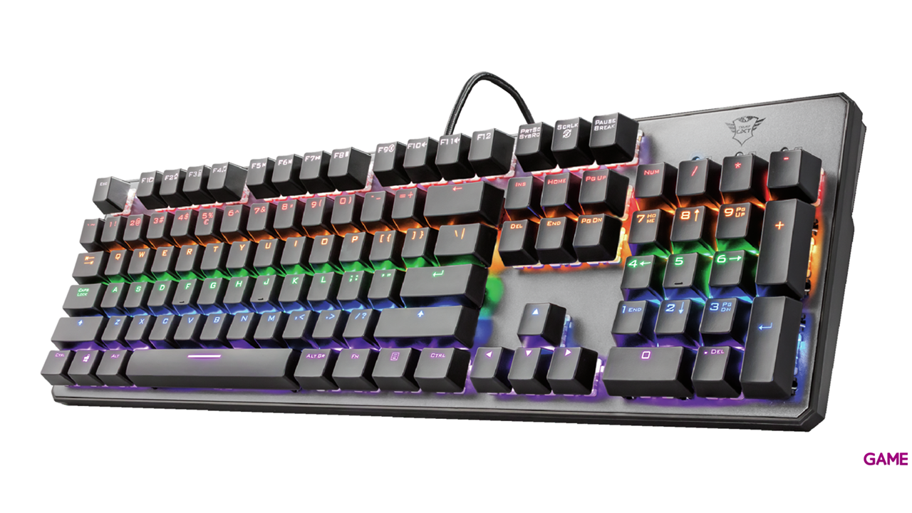 Trust GXT 865 Asta Mecánico LED Multicolor - Teclado Gaming
