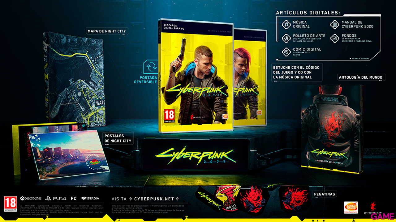 Cyberpunk 2077 Edición Day One