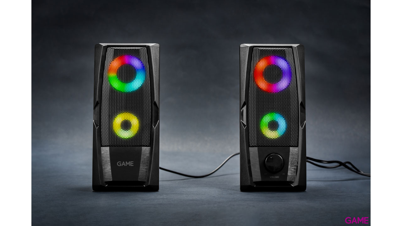 GAME SP200 2.0 RGB Speaker - Altavoces
