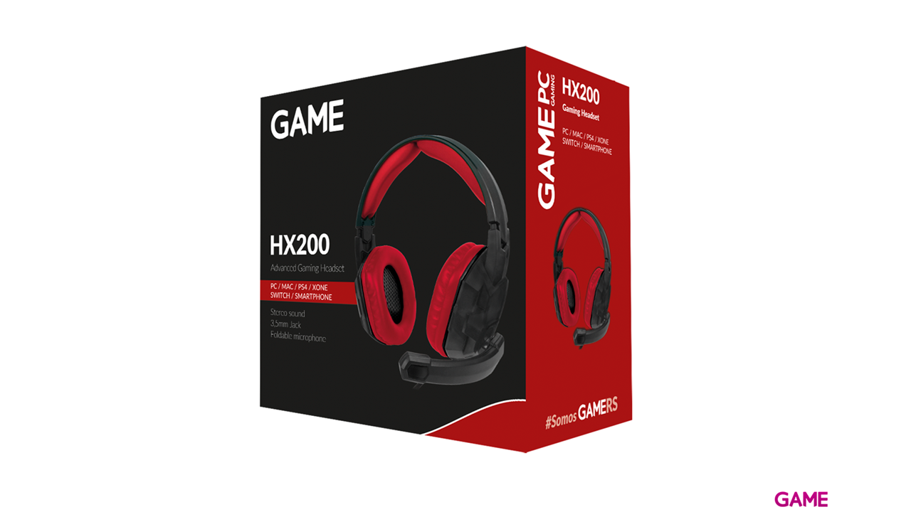 GAME HX200 Gaming Headset PC-PS4-XONE-SWITCH-MOVIL - Auriculares - Auriculares Gaming