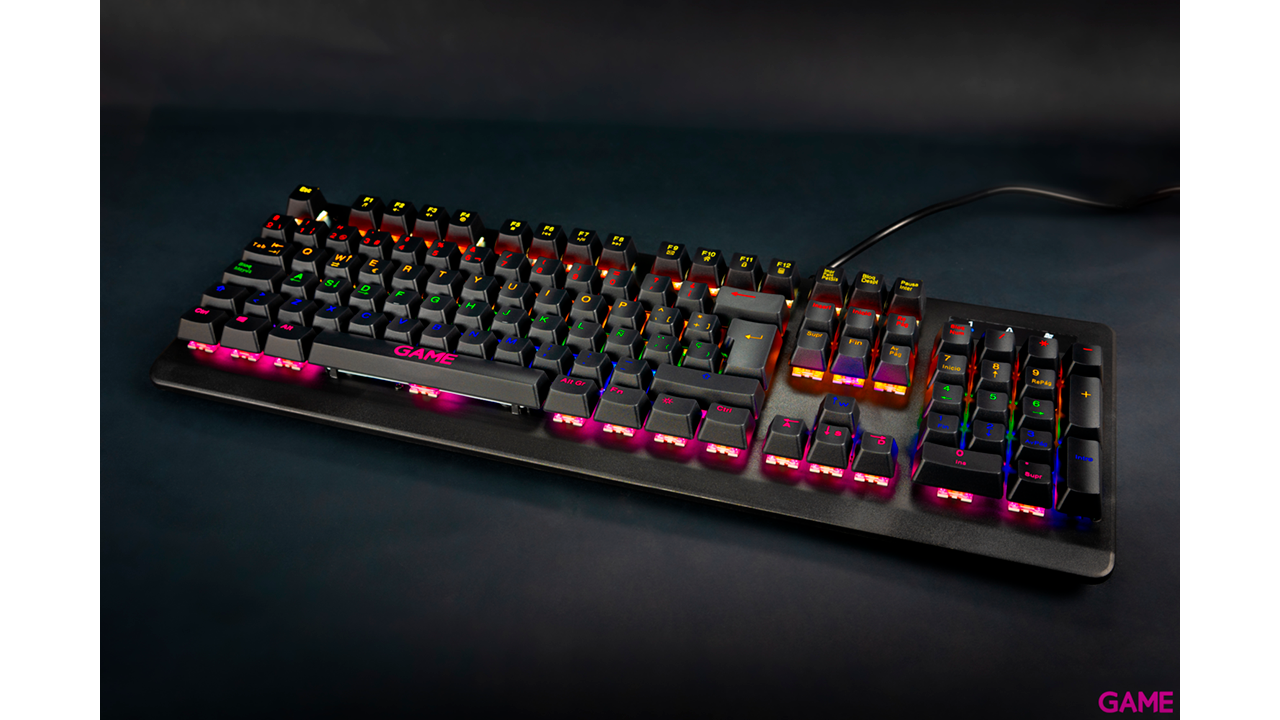 GAME KX400 Mecánico Red Switch RGB - Teclado Gaming