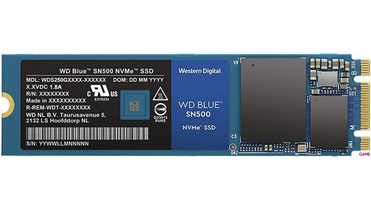 WD Blue SN500 500GB M.2 2280 NVMe SSD - Disco Duro Interno