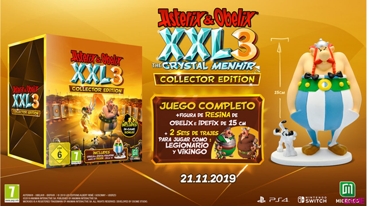 Asterix y Obelix XXL 3 The Crystal Menhir Collector Edition