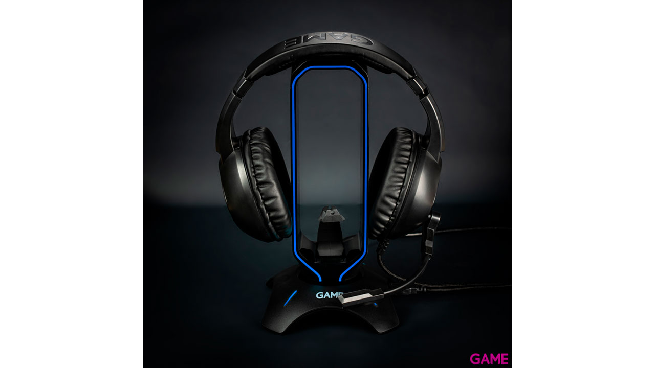 GAME ST100 LED - Soporte auriculares + HUB USB 3.0