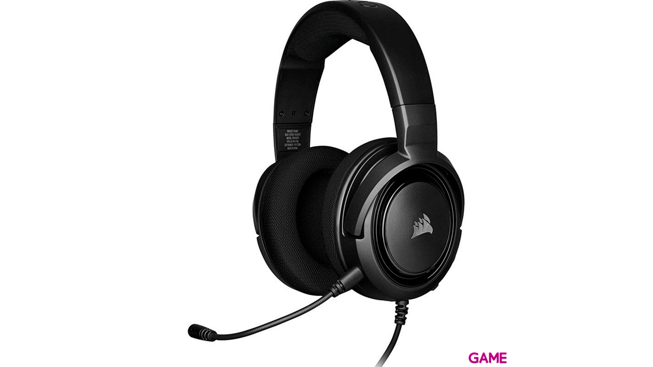 CORSAIR HS35 Carbon PC-PS4-PS5-XBOX-SWITCH-MOVIL - Auriculares Gaming