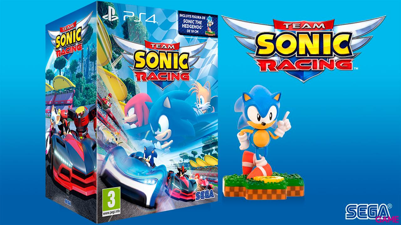 Team Sonic Racing + Figura Sonic