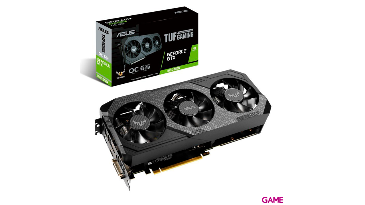 ASUS TUF GeForce GTX 1660 SUPER Advanced Edition 6GB GDDR6 - Tarjeta Gráfica Gaming