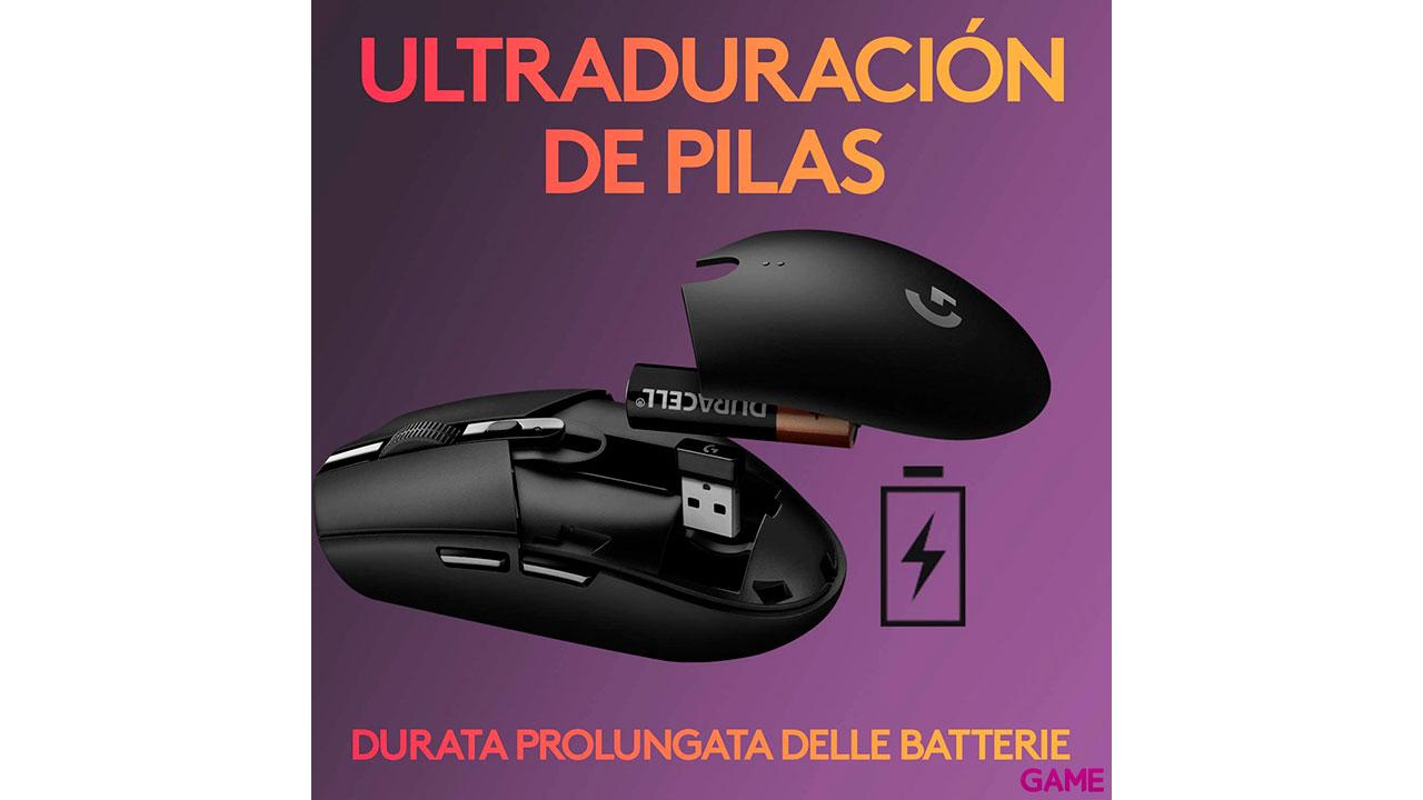 Logitech G305 Negro LIGHTSPEED Wireless 12000 DPI Ambidiestro - RATÓN GAMING
