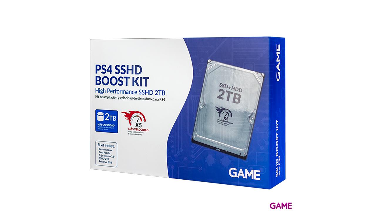PS4 2TB SSHD Turbo Boost KIT - Pack de ampliación de disco duro para PS4