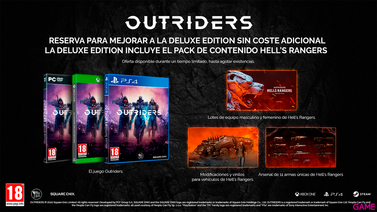 Outriders + Free Upgrade To Deluxe Edition