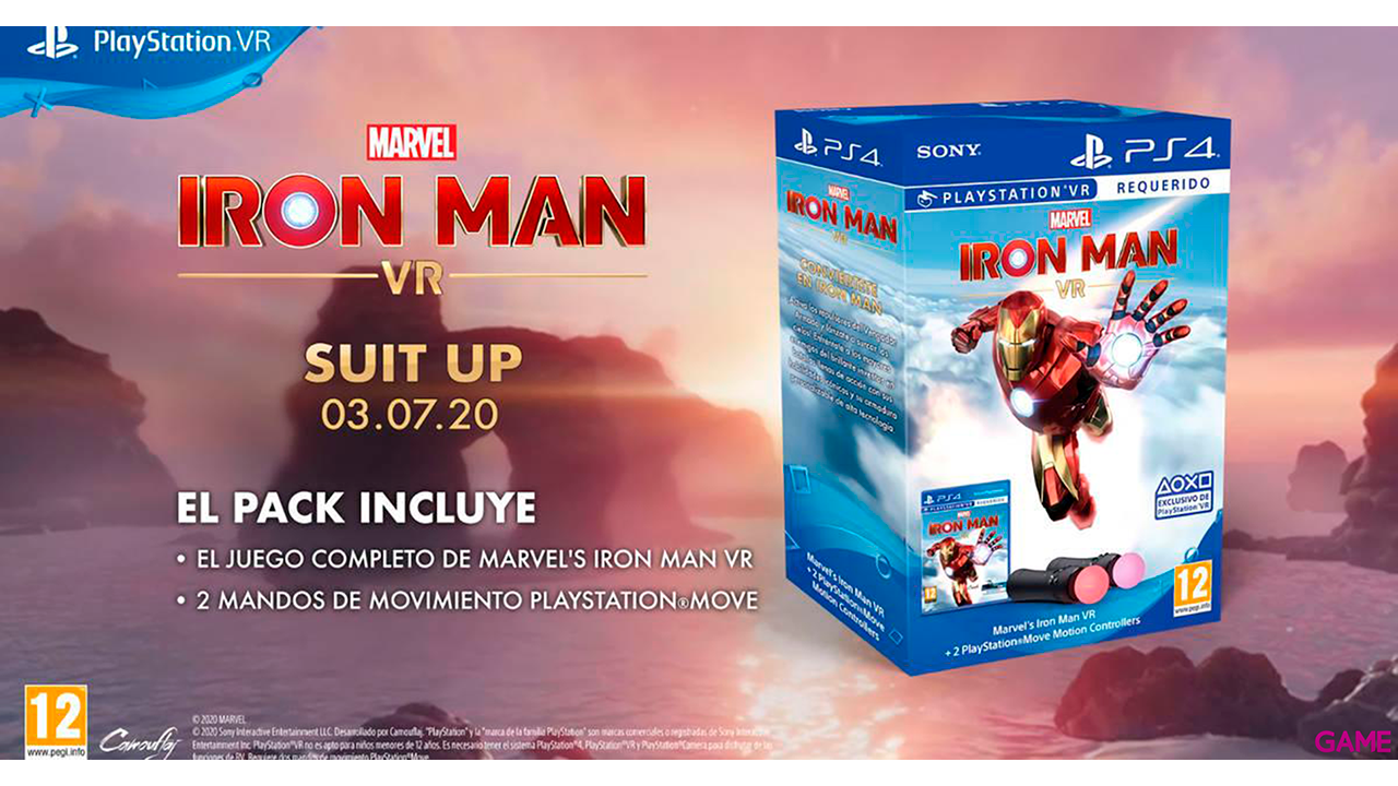Marvel's Iron Man VR + 2 PS Move Motion Controller