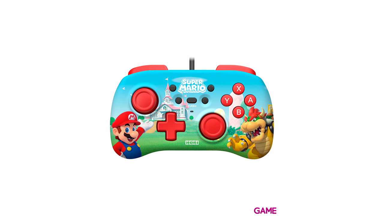 Controller Mini con Cable Hori Super Mario -Licencia oficial-