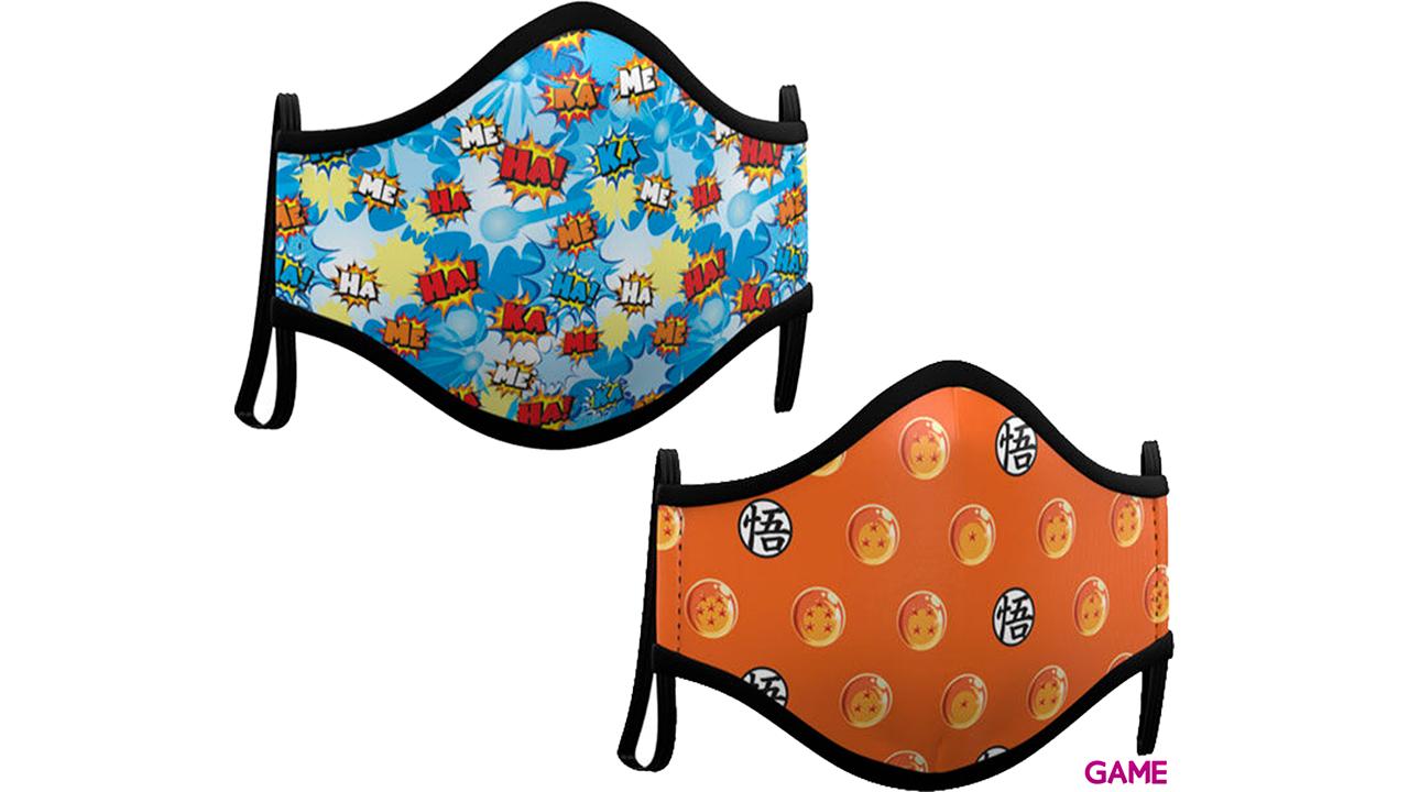 Pack de 2 Mascarillas Dragon Ball Talla Adulto
