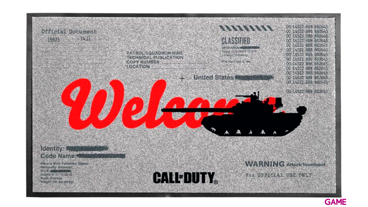 Felpudo Call of Duty Cold War: Welcome