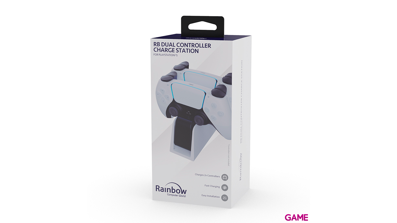 Cargador Dual Mandos PS5 Rainbow