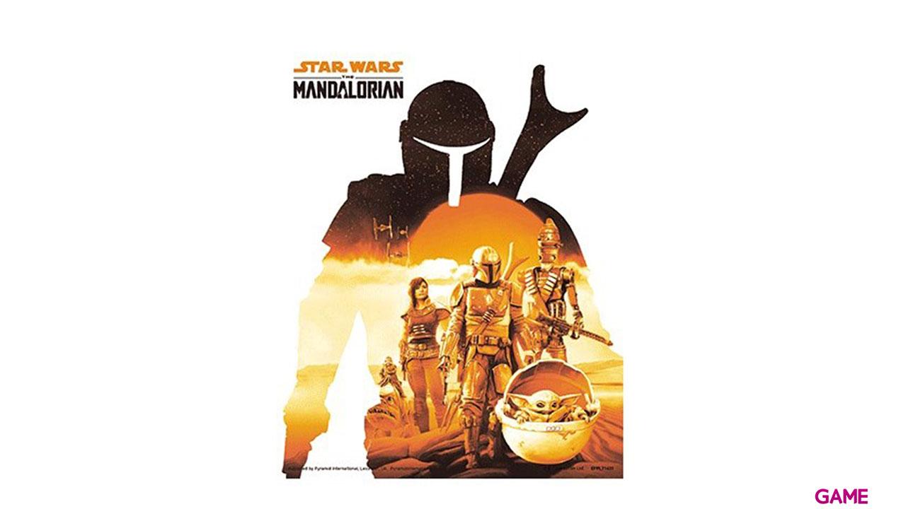 Cuadro 3D Star Wars The Mandalorian: White Sunset