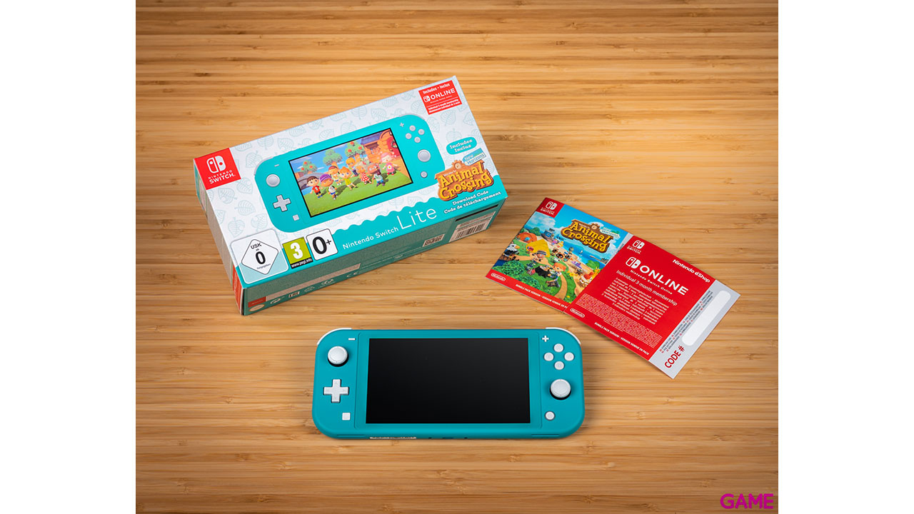 Nintendo Switch Lite Coral + Animal Crossing + 3 Meses Nintendo Online