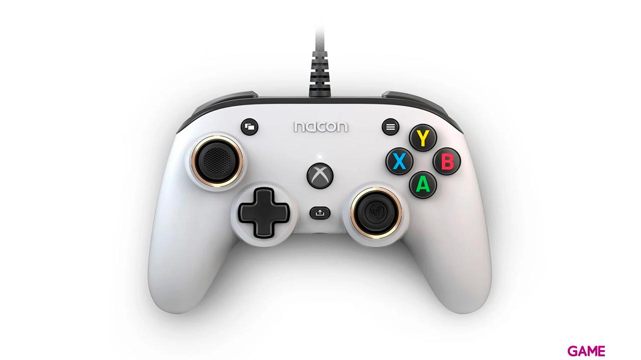 Mando Nacon Pro Compact Programable Blanco - Licencia XBOX