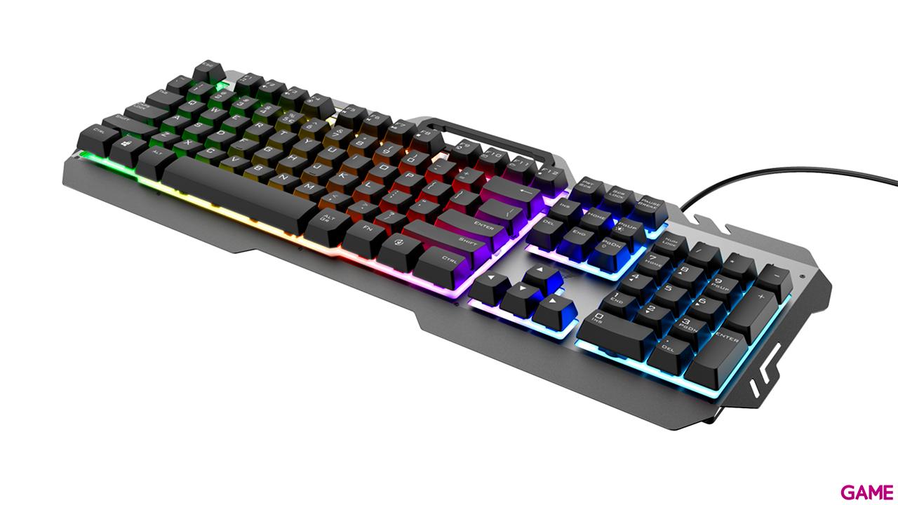 Trust GXT 853 Esca Metal Multicolor Raimbow - Teclado Gaming