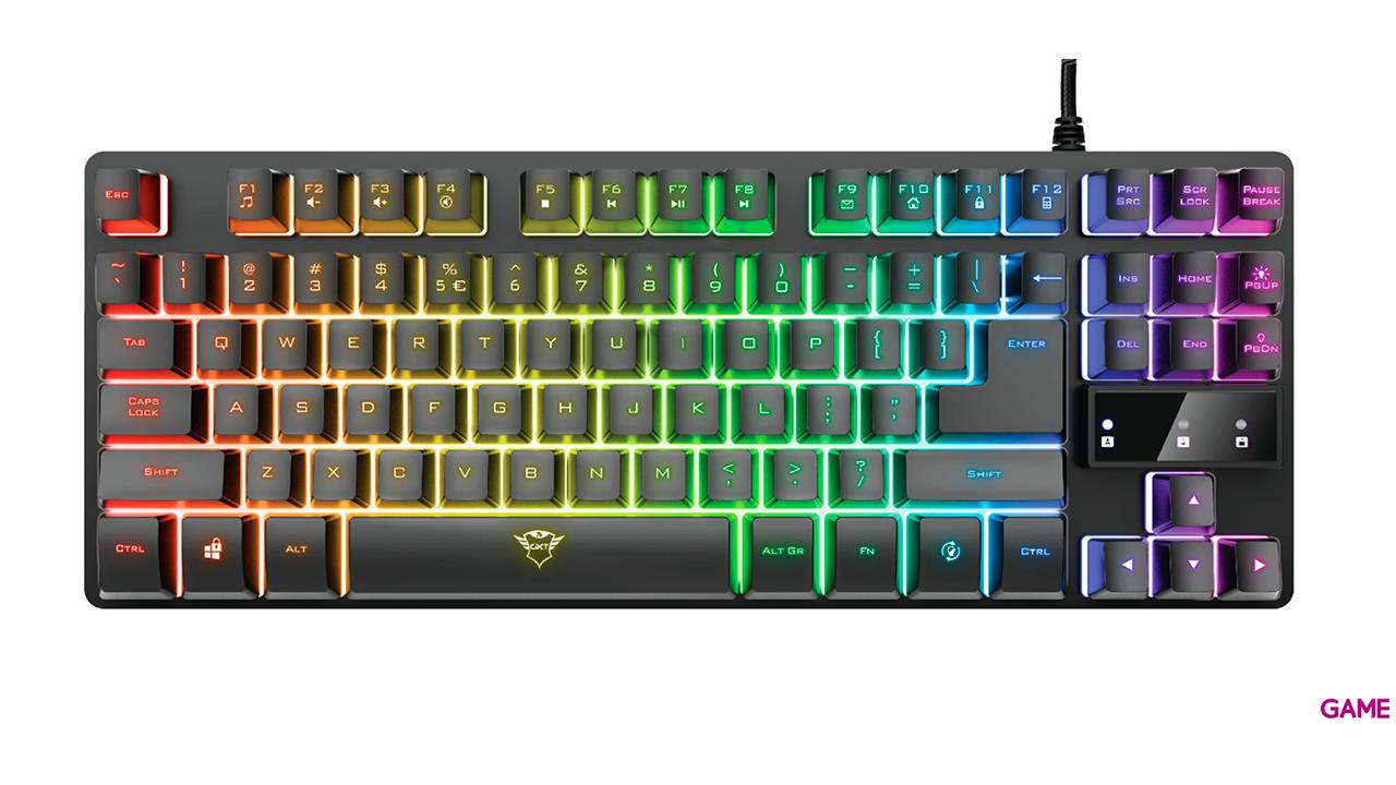 Trust GXT 833 Thado TKL Multicolor - Teclado Gaming