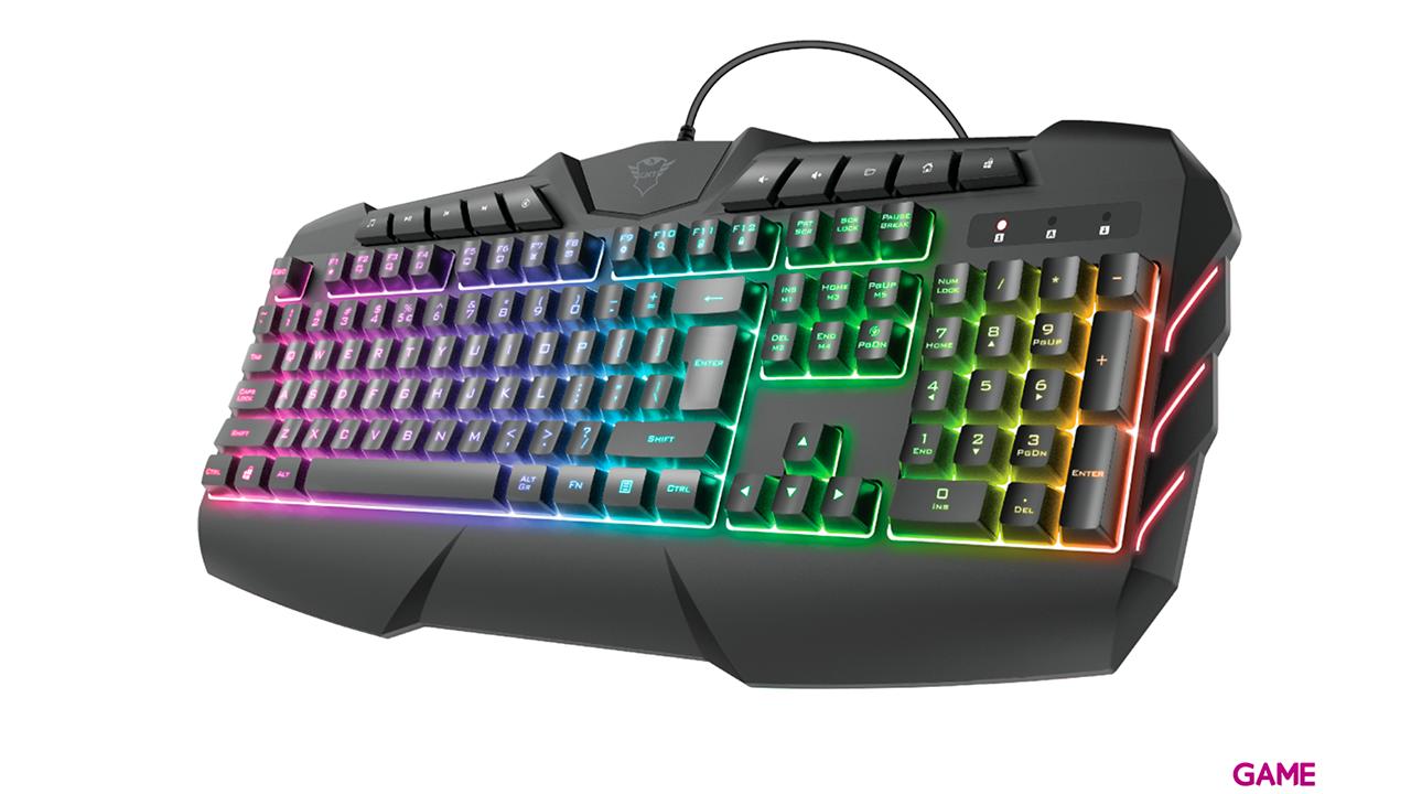 Tust GXT 881 ODYSS Semi-Mecánico Multicolor - Teclado Gaming