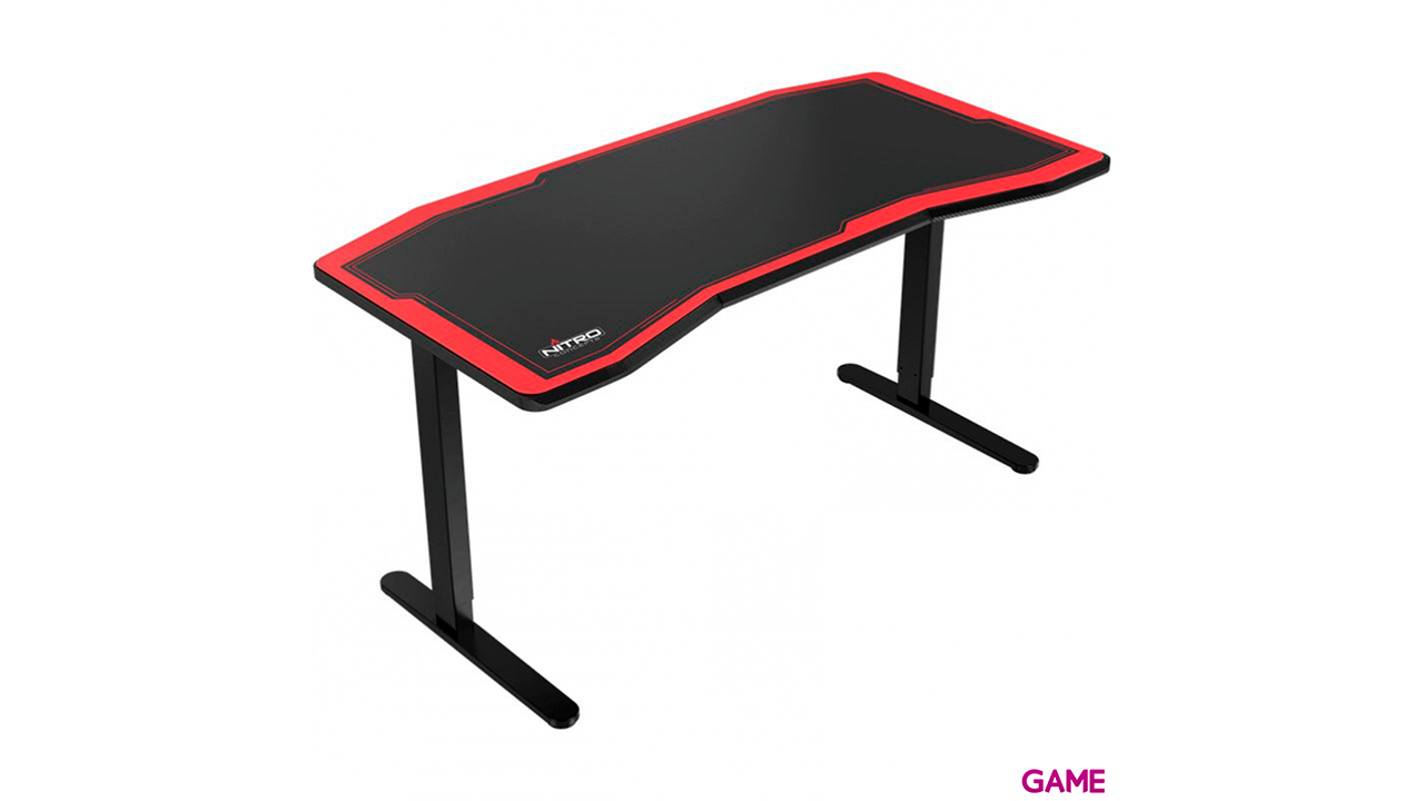 Nitro Concepts D16M Carbon Manual Negro-Rojo - Mesa Gaming