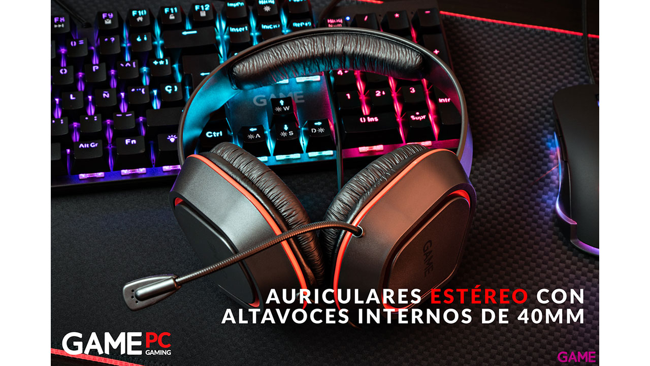 GAME HX120 Essential Gaming Headset - Auriculares Gaming