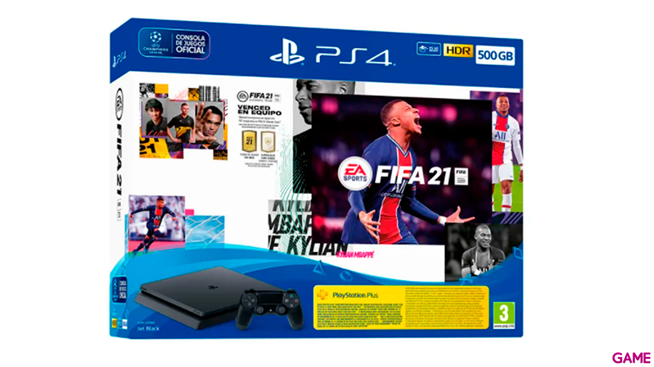Playstation 4 Slim 500GB + FIFA 21 + FUT