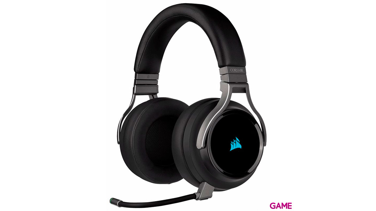 Corsair Virtuoso RGB - Carbono - 7.1 PC-PS4-PS5 - 3.5mm - XBOX-SWITCH-MOVIL - Auriculares Gaming Inalámbricos