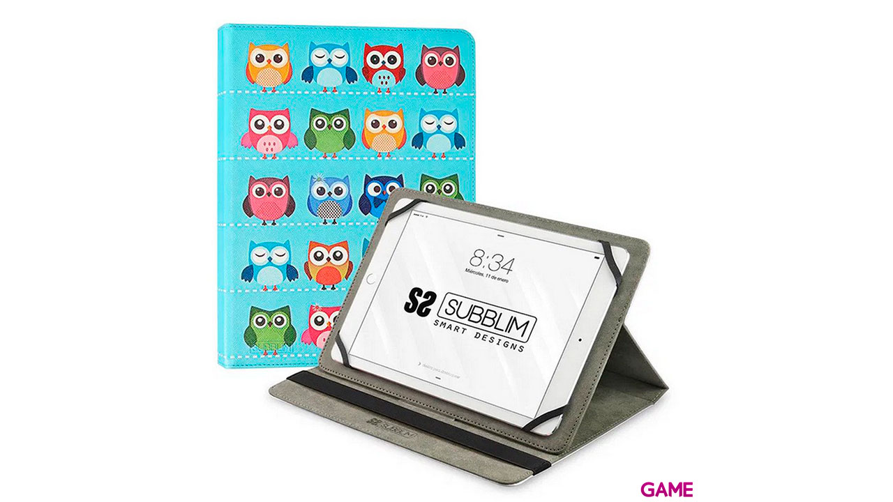 SUBBLIM Funda Tablet Universal TRENDY CASE OWLS 10.1