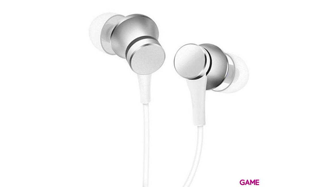 Xiaomi Mi In-Ear Headphones Basic Auriculares Dentro de oído Plata, Blanco