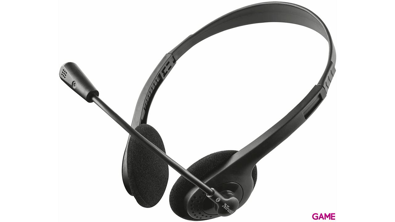 Trust Ziva Chat Negro - Auriculares