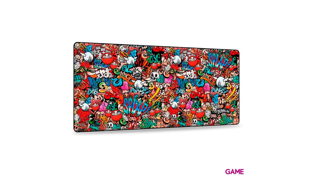SUBBLIM Alfombrilla Graffiti XL - Alfombrilla Gaming