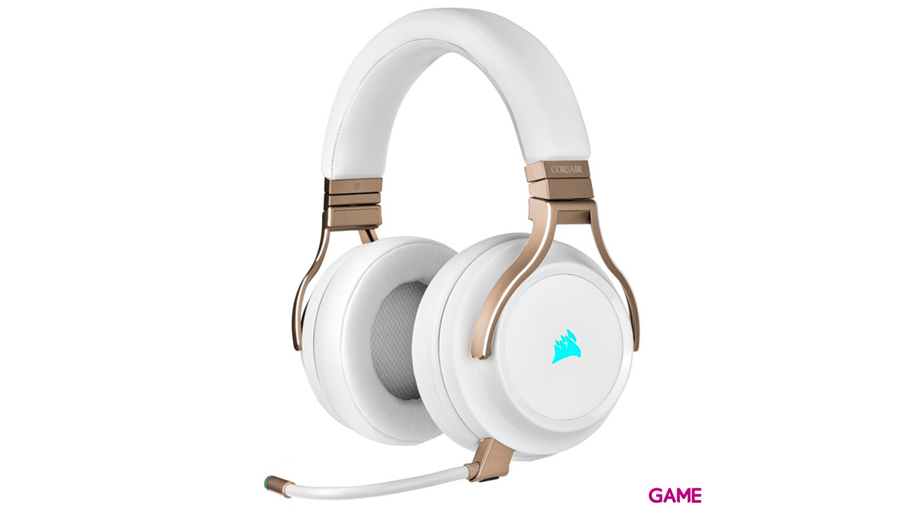 Corsair VIRTUOSO RGB Wireless Perlado- 7.1 PC-PS4-PS5 - 3.5mm - XBOX-SWITCH-MOVIL - Auriculares Gaming Inalámbricos
