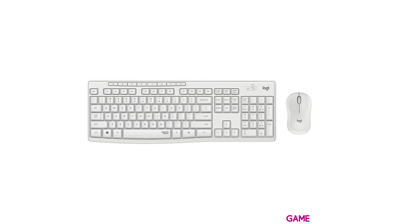 Logitech MK295 Silent Wireless Combo teclado RF inalámbrico QWERTY Internacional de EE.UU. Blanco