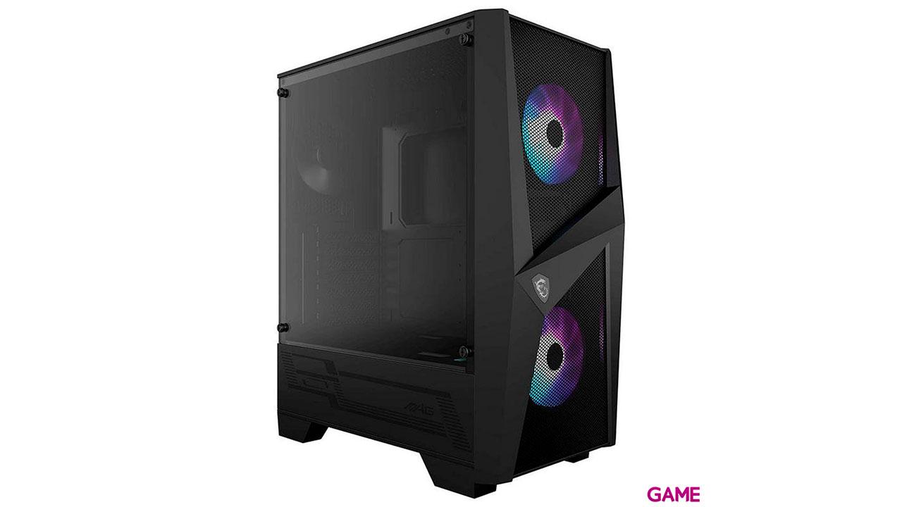 MSI MAG FORGE 100M carcasa de ordenador Midi Tower Negro, Transparente