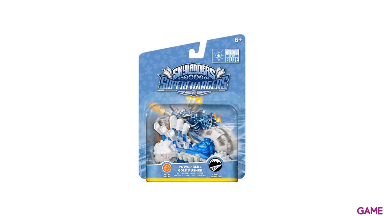 Figura Skylanders Superchargers Vehiculo Gold Rusher Blue Deco