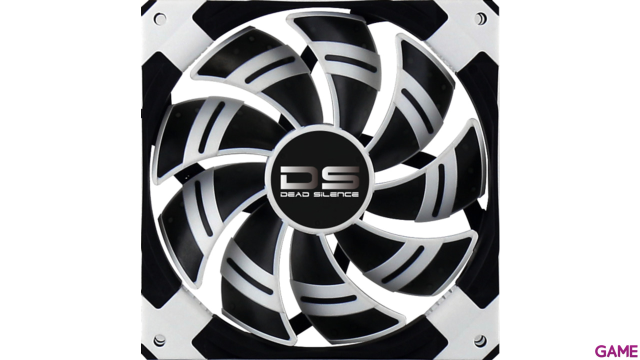 Aerocool Ds Fan Blanco y Negro - Ventilador 120mm