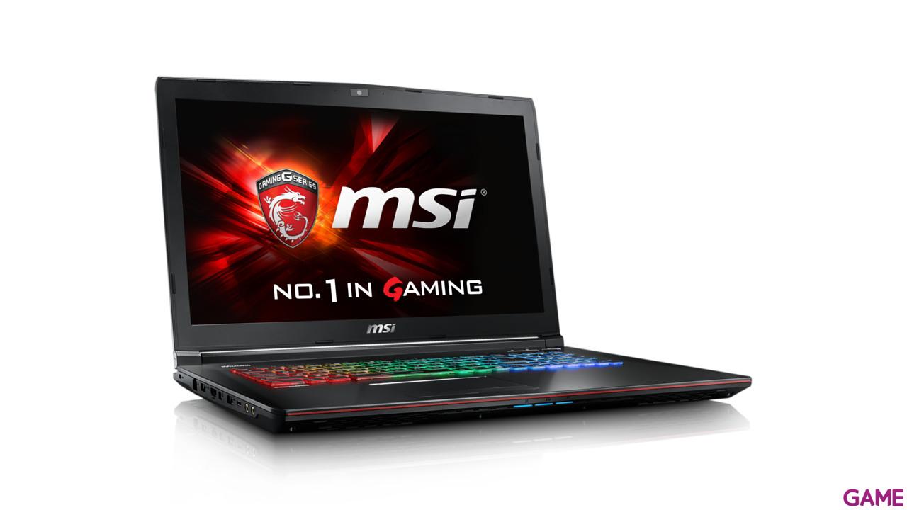 MSI GE72 6QD-200ES - i7-6700 - GTX 960M - 16GB - 1TB HDD + 256GB SSD - 17.3'' - W10 - Apache Pro