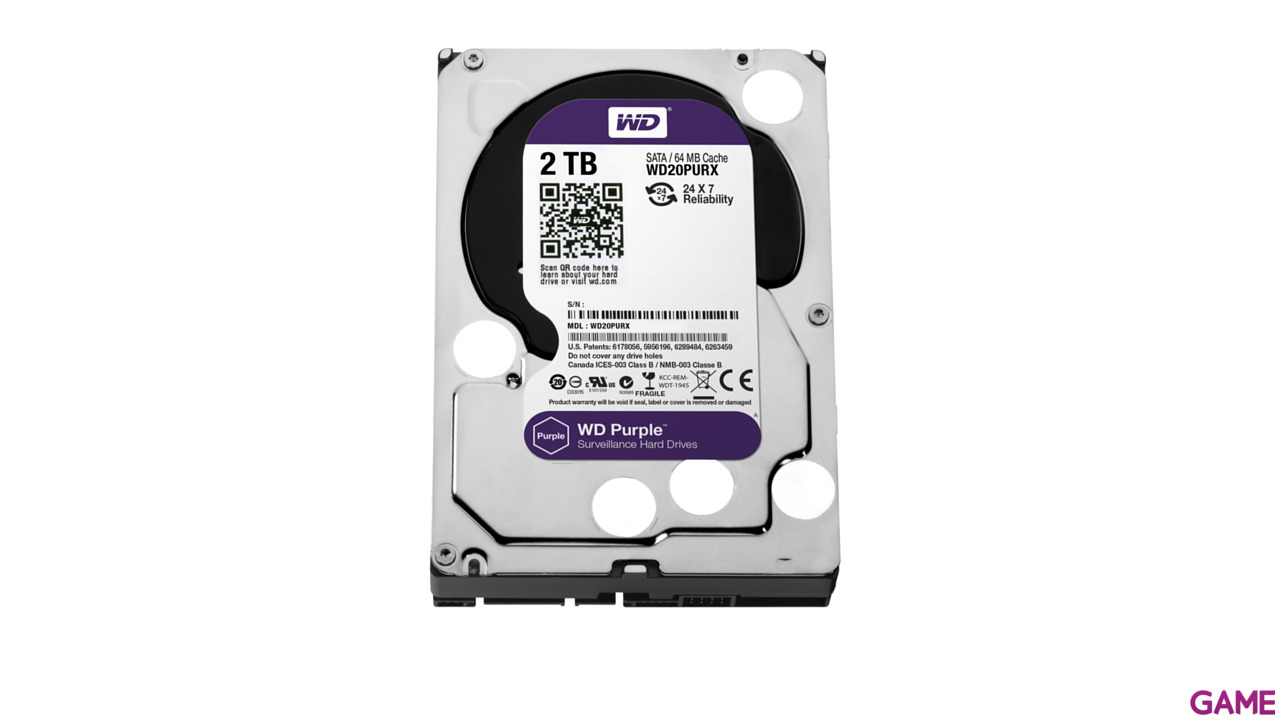 """WD Purple 2TB 3.5"""" 5400RPM"""
