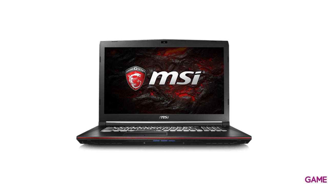MSI GP72 7RD-081ES - i7-7700 - GTX 1050 - 16GB - 1TB HDD + 256GB SSD - 17.3'' - W10 - Leopard