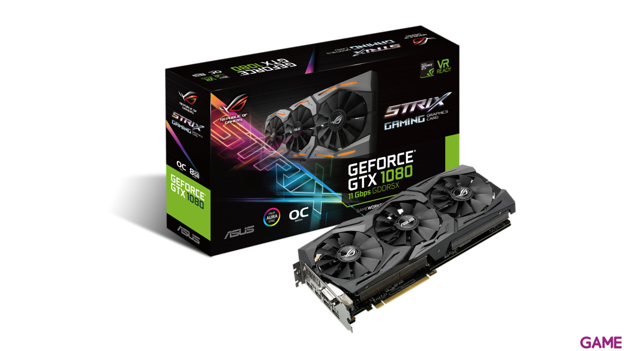 Asus GeForce GTX 1080 Strix OC 8GB 11Gbps